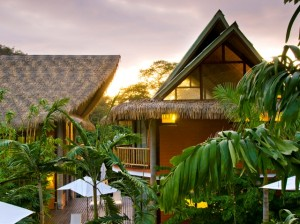 Balinese style roofs at L'acqua Viva Resort and Spa, Nosara, Costa Rica